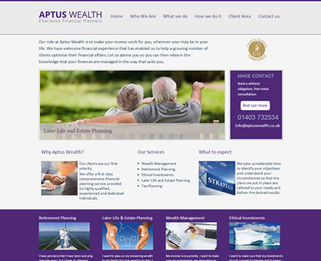 Financial Planner Website : IFA Web Pro