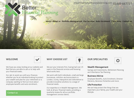 Our Work Better Financial Planning Website By Ifa Web Pro