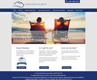 Equity Release Website Design, showing Equity Release Schemes, Lifetime Mortgaages, reversion Schemes and Equity Release Calculator