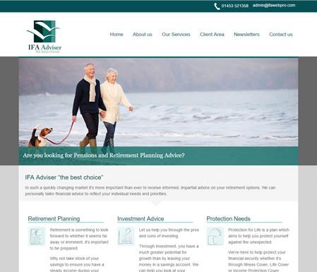IFA website template : design 3