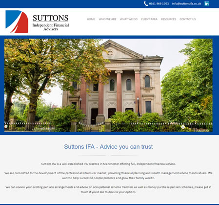 Website Template Designed by IFA Web Pro for Suttons IFA