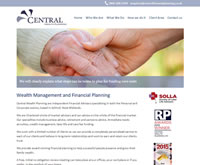Central Wealth - IFA web design