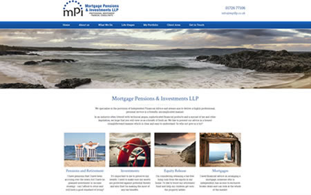 Website Template Designed by IFA Web Pro for Mortgage, pensions and Investments LLP