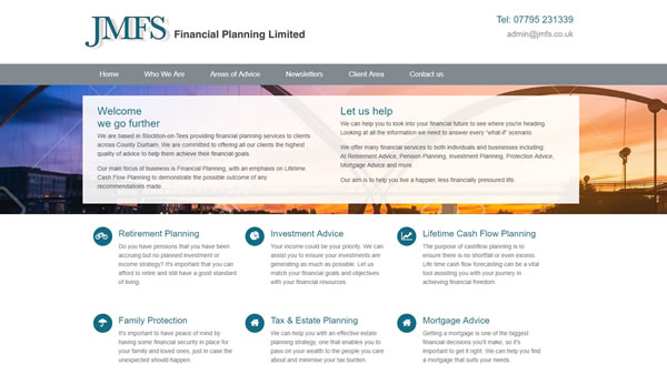 An IFA website that has a bespoke focus on its cashflow planning and mortgages