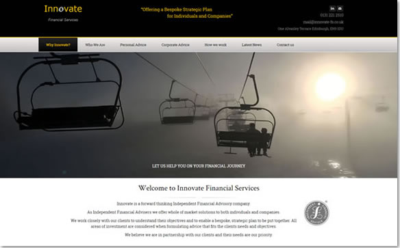 Innovate Financial Planning IFA Website Design – Best Financial Planning Sites
