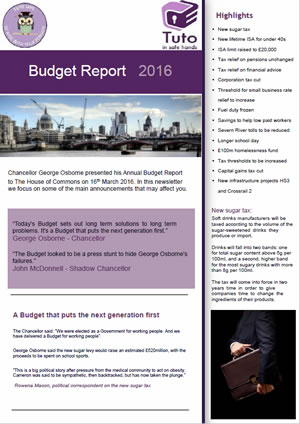 Budget Report 2016 for Tuto
