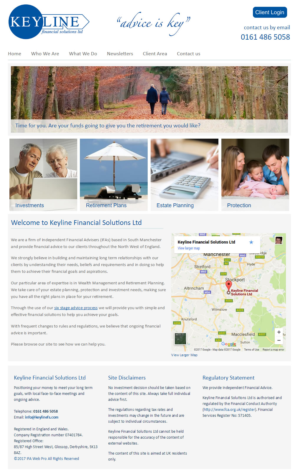 Financial Adviser website redesign - Keyline Financial Solutions