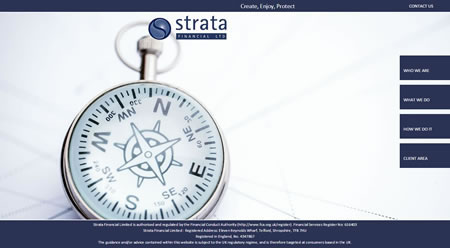 Strata Financial Ltd templated website design by IFA Web Pro / IFA Systems