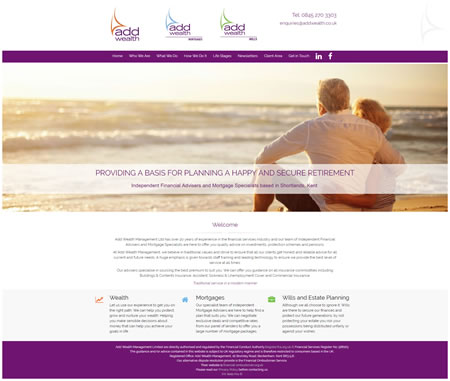 Financial Planner Website Design - Add Wealth