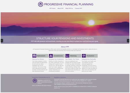 Financial Website Design Progressive