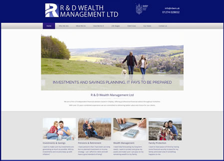 Financial Website Design - R and D wealth Management