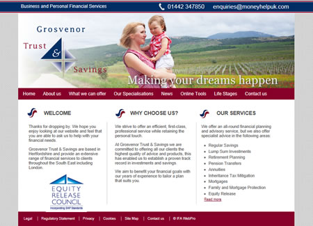 IFA Web Pro Financial Planner Website Design