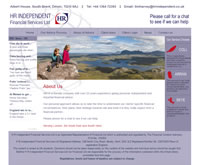 IFA Website designed for H R  Independent Financial Services