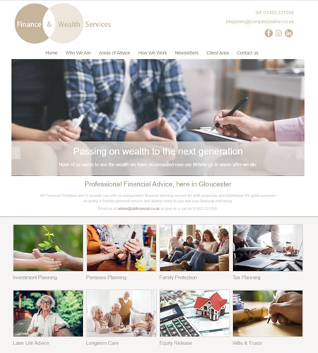 IFA website template : design 1