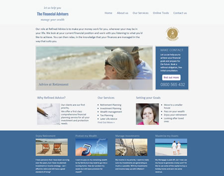 IFA website template : design E
