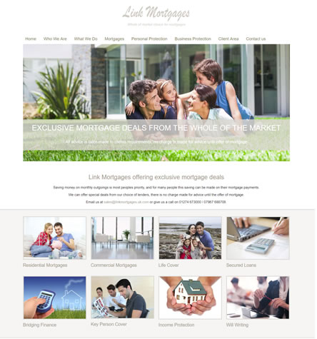 Link Mortgages - Mortgage and Protection Website Design