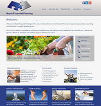 IFA Website designed for Maple Financial Planning