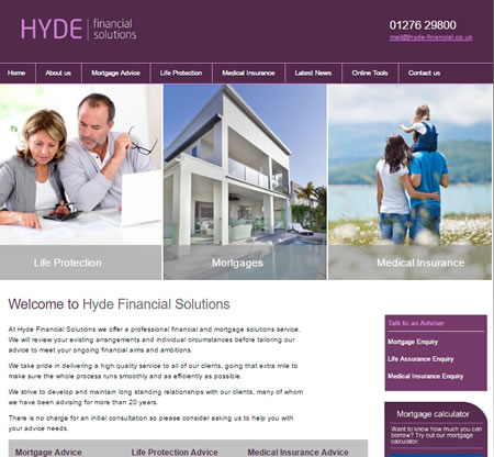 IFA Web Design - Hyde Financial