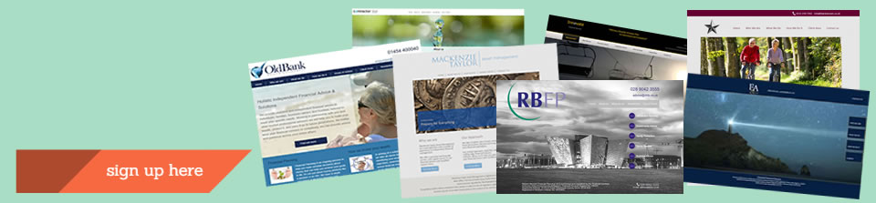 Financial Adviser Website design