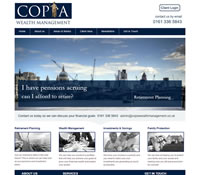 IFA Website designed for Copia Wealth Management