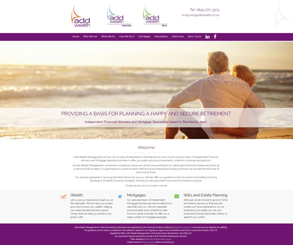 Best IFA website - no 5  Wealth, Mortgages, Wills & Trusts